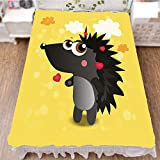 iPrint Bedding Bed Ruffle Skirt 3D Print,Animal Cartoon Cute Little Hearts Colorful Clouds,Best Modern Style Bed Skirt for Men and Women by 70.9''x78.7''
