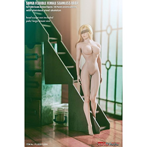 Female Body - OBEST 1/6 Female Super Flexible Seamless Body Pale Action Figure (S20A)