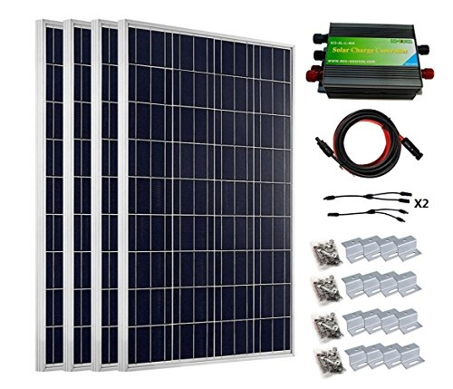 ECO-WORTHY 400 Watts Solar System Kit: 4pcs 100W Poly Sol...