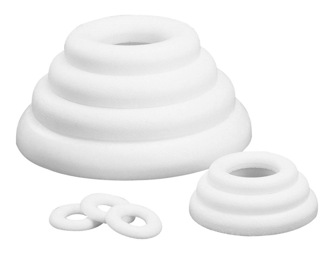 Anneau plat - Ø 17 cm - Polystyrène - Rayher