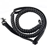 550 Paracord Shotgun Rifle Sling - Traditional 2 Point Adjustable W/ Swivels Clip for Hunting and Outdoor Adventure Time