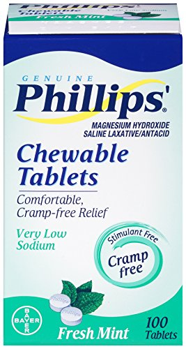 Amazon.com: Phillips Chewable Tablets, Fresh Mint, 100 Tablets, (1 Box): Health & Personal Care