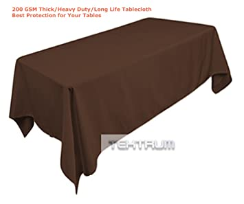 TEKTRUM 54 X 84 INCH 54u0026quot;X84u0026quot; RECTANGULAR POLYESTER TABLECLOTH    THICK/HEAVY