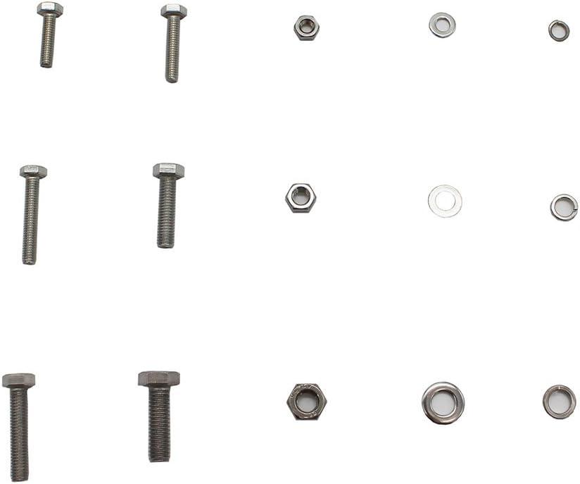 Raogoodcx 525Pcs M4 M4 M5 Stainless Steel Metric Hex Flat Head Bolts Screws Nuts Flat and Lock Washers Assortment Kit