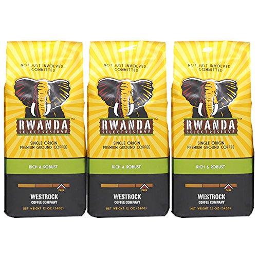 Select Whole Bean - Westrock Coffee Rwanda Select Reserve Dark Roast Gourmet Whole Bean Coffee 12oz Bags (Pack of 3)