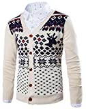Product review for ARTFFEL Mens Deer Print Buttons Christmas Long Sleeve Knit Sweater Cardigan
