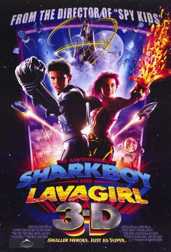The Adventures of Shark Boy & Lava Girl in 3-D Movie Poster - Style