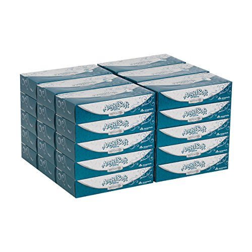 (Angel Soft Ultra Professional Series Premium 2-Ply Facial Tissue by GP PRO (Georgia-Pacific), Flat Box, 48560, 125 Sheets Per Box, 30 Boxes Per Case)