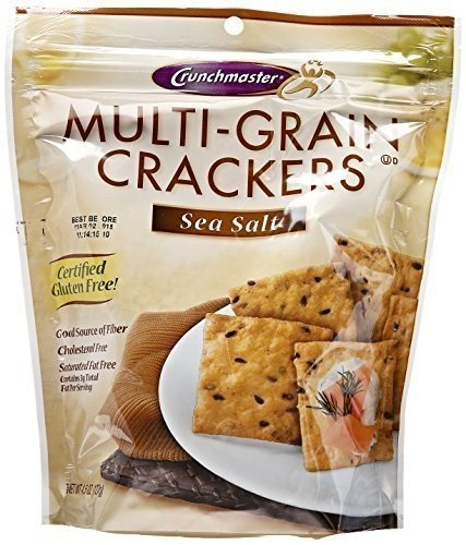 Crunchmaster Multigrain Cracker Sea Salt 4.5 oz. (Pack of 12)