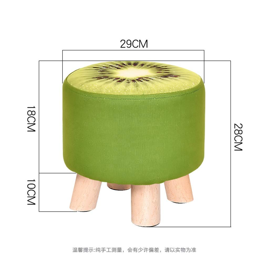 Solid Wood Stool - Four Legs Pine Sturdy and Durable Cloth Cover Can Be Washed and Wash Creative Children Adult Fruit Stool Sofa Bench 292928CM MENA UK by Benchor (Image #6)