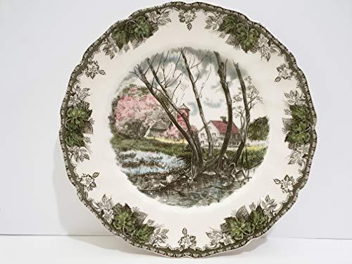 Plate Dinner Village Friendly - Johnson Brothers The Friendly Village Large Dinner Plate - Willow By Brook