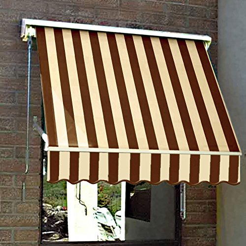 Awntech 6-Feet Mesa Window Retractable Awning, 24-Inch Height by 24-Inch Diameter, Brown/Tan