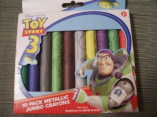 Disney Toy Story 3 ~ 10 Pack Metallic Jumbo Crayons ()