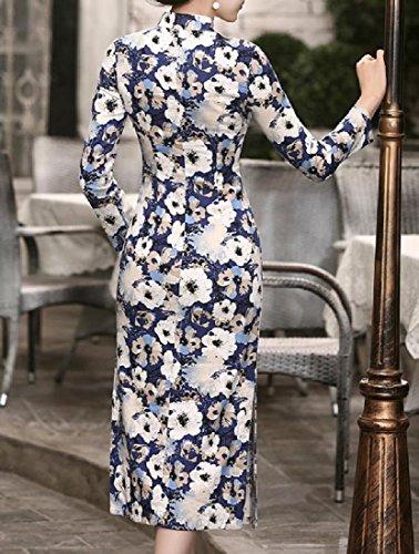 Coolred-femmes Linge Elegent Prime Printemps Floral Robe Cheongsam Mince 3