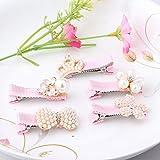 Pyrsun(TM) Korea Style Baby Hair Wear Pearls Crown Hairpins Floral Rhinestone Children Hair Accessories Girls Bow Hairclips