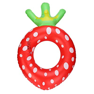 Basde Pool Floats for Adults Kids Inflatable Float Pool Donut Swim Rings Floats Swim Ring Pool Toys for Swimming Pool Party Decorations (A): Toys & Games