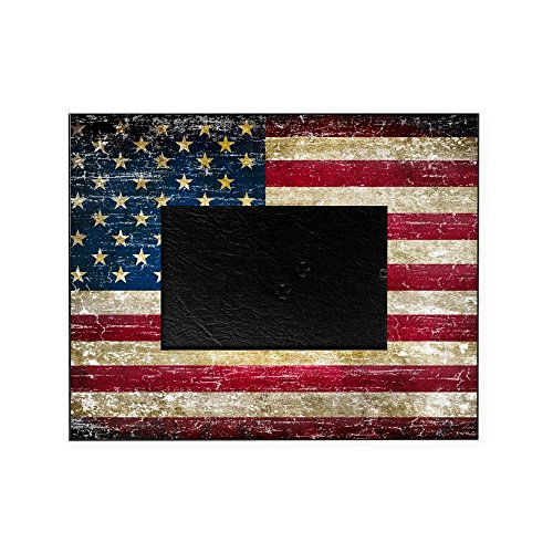 CafePress - Faded American Flag - Decorative 8x10 Picture Frame ()