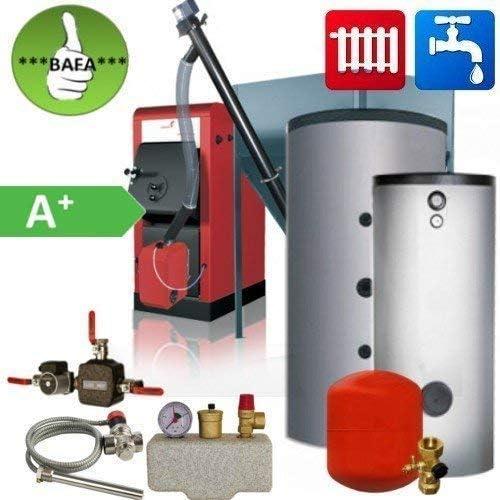 Set Pellets de Caldera Orligno 100 Bafa Paquete 16Kw Calefacción y Agua Caliente Sanitaria