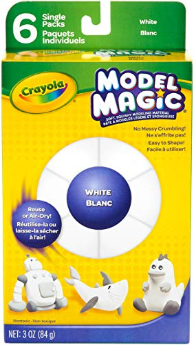 (Crayola Model Magic Single Packs, White blanc, 3)