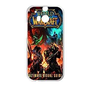 Generic Design Back Case Cover HTC One M8 Cell Phone Case White Game World of Warcraft Alliance Dkzfq Plastic Cases