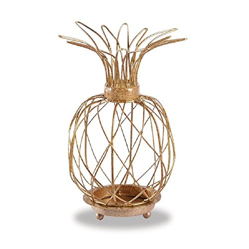 Pineapple Votive - Mud Pie Gold Metal Wire Pineapple Votive Holder