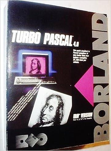 Turbo Pascal 4.0 (IBM Version): Borland: 9780875241708: Amazon.com: Books
