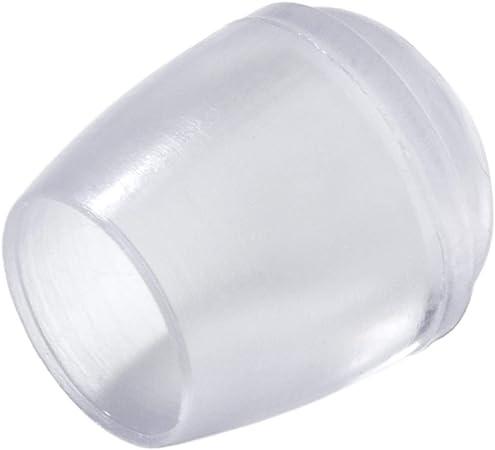 Adsamm 16 x Sedia Gamba Tappi | Ø 12 mm | Rotondo | Trasparente | feltrini per sedie Tubo in Acciaio di qualità Premium