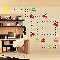 ufengke® Cartoon Pac-Man Games Wall Decals, Children's...