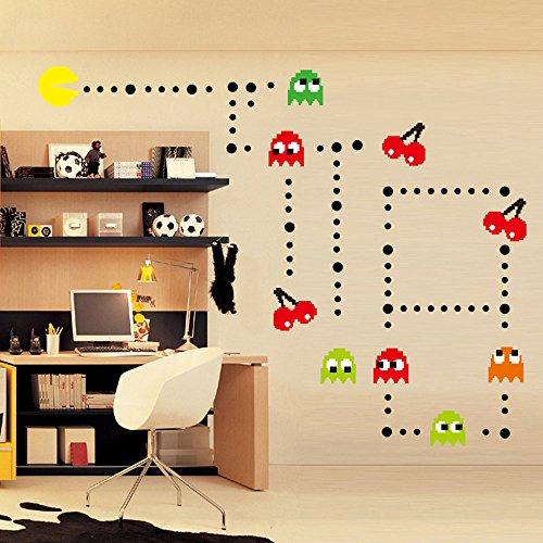 ufengke® Cartoon Pac-Man Games Wall Decals, Children's Room Nursery Removable Wall Stickers Murals