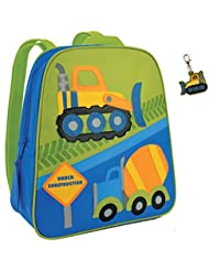 Stephen Joseph Construction Backpack with Bull Dozer Zipper Pull - Boys Backpacks