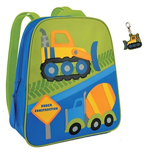 Stephen Joseph Toddler Backpacks - Stephen Joseph Construction Backpack with Bull Dozer Zipper Pull - Boys Backpacks