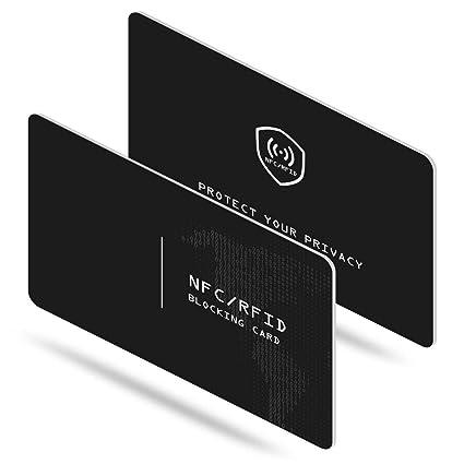 N.ORANIE 2 Piezas NFC Protector Tarjetas Crédito Bloqueo ...