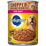 Pedigree Chopped Ground Dinner With Beef Adult Canned Wet Dog Food, (12) 13.2 Oz. Cans Larger Image