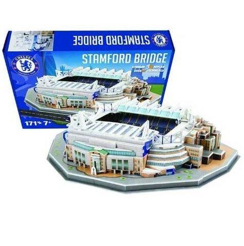 Official ~~ Chelsea FC ~~ Stamford Bridge ~~ 3D Replica Stadium ~~ EasyFit Technology