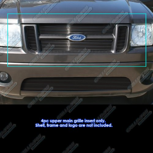2002 Ford Explorer Grill - APS Compatible with 2001-2003 Ford Explorer Sport 2001-2005 Sport Trac Billet Grill S18-H32356F