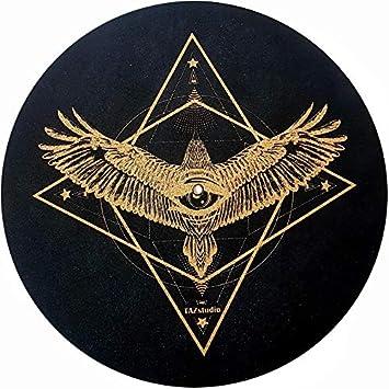 Alfombrilla para Tocadiscos con diseño de águila geométrica ...