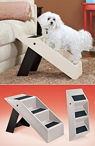 Portable Plastic Folding 3-Step Pet Stairs Climber For Smaller Pets