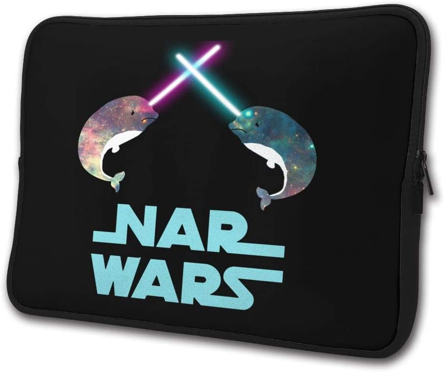 SWEET-YZ Laptop Sleeve Case Starry Sky Narwhal Notebook Computer Cover Bag Compatible 13-15 Inch Laptop