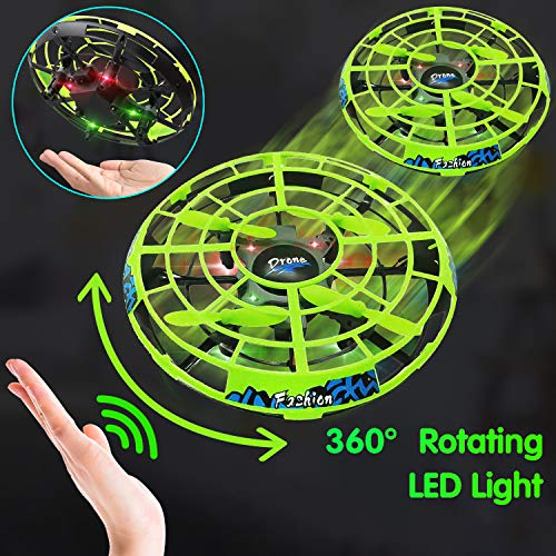 Flying Ball RC Mini Drone Flying Toys Birthday Gifts for Kids Boys Girls Airplane UFO Shape Outdoor Play Toys Remote Control Interactive Infrared Induction Helicopter Flying Saucer Toys 360° Rotating by TURNMEON    (Image #3)
