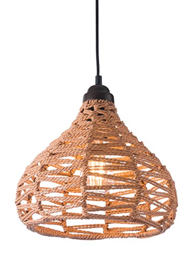 Synthetic Woven Pendant Light in Natural