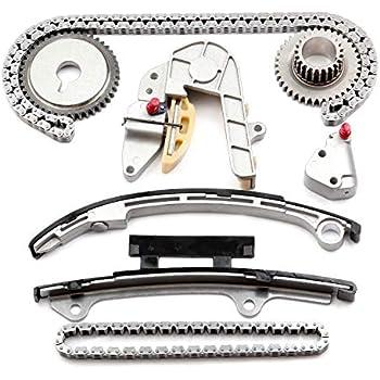 SCITOO TK3032 Timing Chain Kit Tensioner Guide Rail Crank Sprocket Compatible 02-06 Nissan Altima Sentra 2.5L DOHC QR25DE