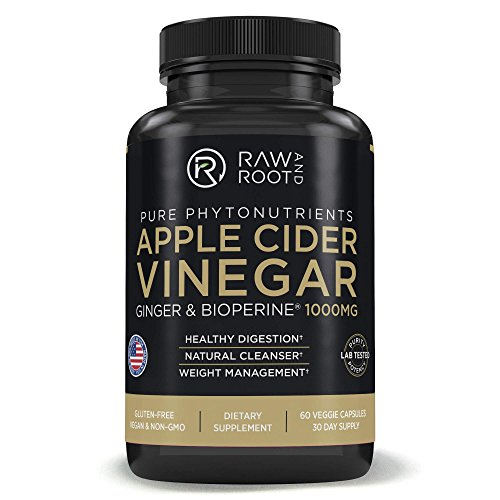 - Apple Cider Vinegar with BIOPERINE & Ginger- Healthy Digestion, Natural Detox Cleanse, Weight Loss - Dietary Supplement - 60 Vegetarian Capsules