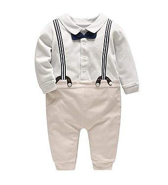 Famesale Baby Boy Tuxedo Kinderkleidung Anzug Fliege Krawatte Set
