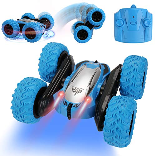 Remote Control Car RC Cars Radio Controlled Cars Fast RC Stunt Car Toys 4WD Monster Truck 2.4GHz 360° Spin 180° Flip Over Double Sided Tumbling Car for Kids Boys Girls 4 5 6 7 8 9-12 Year Old