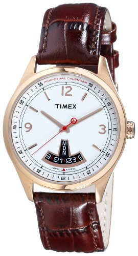 Timex T Series Perpetual Calendar White Dial Men's watch #T2N221, Watch Central