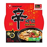Nongshim Shin Bowl Noodle Soup, Gourmet Spicy, 3.03 Ounce (Pack of 12)