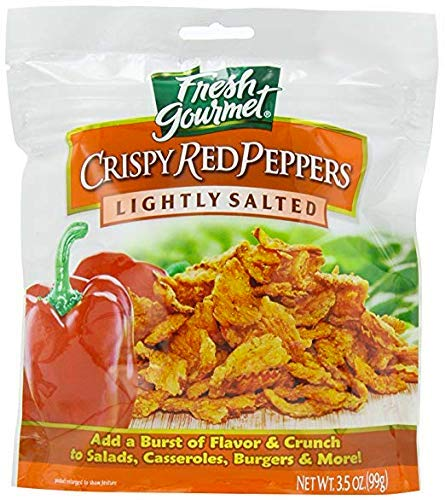 (Fresh Gourmet Crispy Red Peppers, Lightly Salted, 3.5-Ounce (Pack of 3))