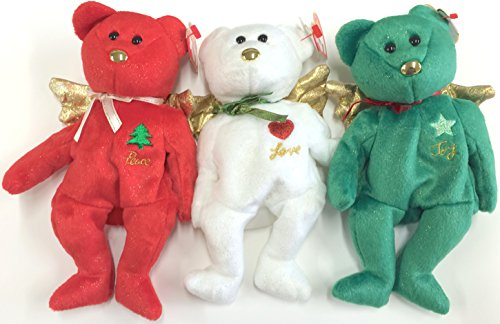 TY GIFT BEAR SET - 3 PIECE - Green Bear Christmas