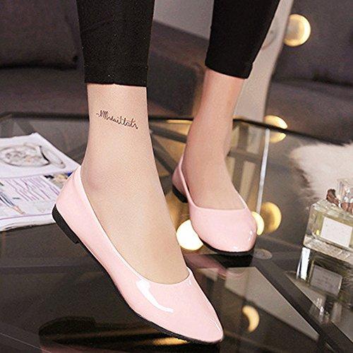 Flat Topgrowth Singole Superficiale Casual Elegante Donna Ballerine Piatto Rosa Bocca Scarpe zwr6azOq