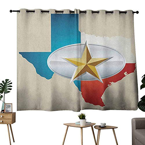 White Belt Buckle Fleur De Lis - Mannwarehouse Texas Star Simple Curtain Cowboy Belt Buckle Star Design with Texas Map Southwestern Parts of America Privacy Protection 63